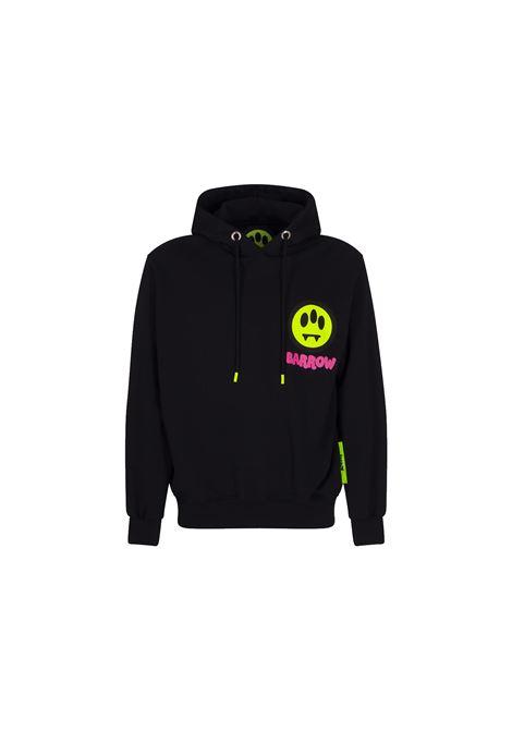 HOODED SWEATSHIRT IN BLACK COTTON BARROW | Sweatshirt | 029948110