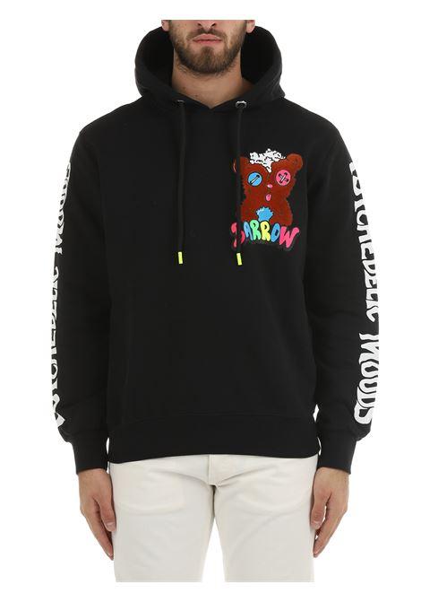 HOODED SWEATSHIRT IN BLACK COTTON BARROW | Sweatshirt | 029956110