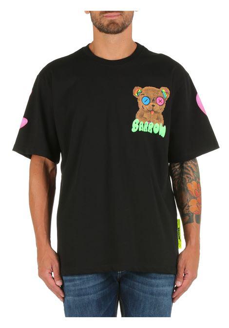 T-SHIRT NERA IN COTONE CON STAMPA BARROW | T-shirt | 031111110