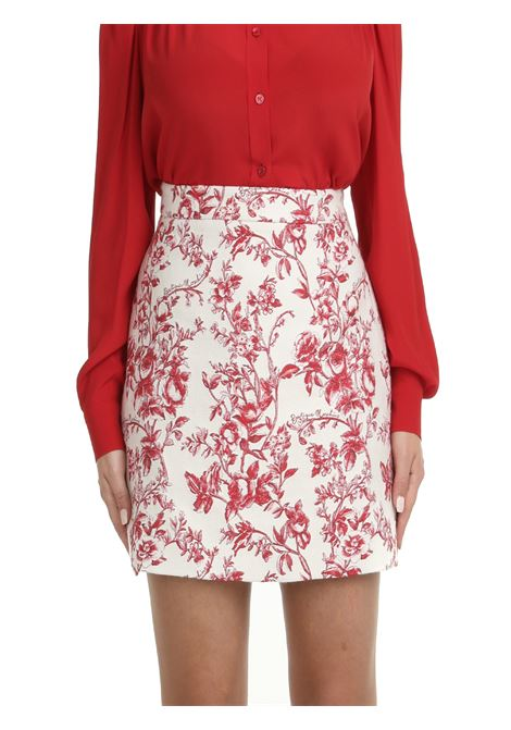 MINI SKIRT WITH FLOWER PRINT BOUTIQUE MOSCHINO | Skirts | 011661411003