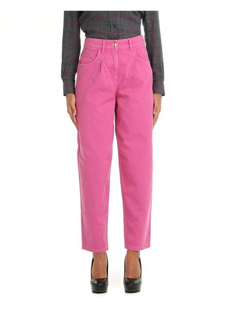 JEANS IN DENIM DI COTONE FUCSIA BOUTIQUE MOSCHINO | Jeans | 03065823182