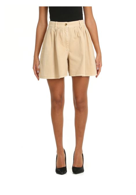 SHORTS IN COTONE BEIGE BOUTIQUE MOSCHINO | Shorts | 0308582319