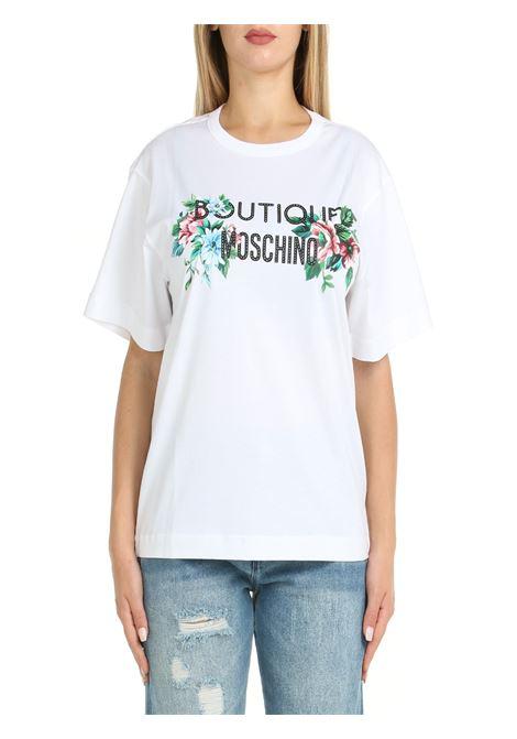 T-SHIRT IN COTONE BIANCA BOUTIQUE MOSCHINO | T-shirt | 120258602001