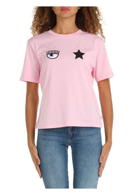 T-SHIRT IN COTONE ROSA CHIARA FERRAGNI   T-shirt   71CBHT01CJC0T439