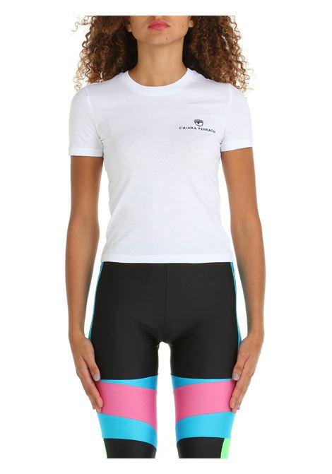 T-SHIRT IN COTONE BIANCA CHIARA FERRAGNI   T-shirt   71CBHT09CJC0T003