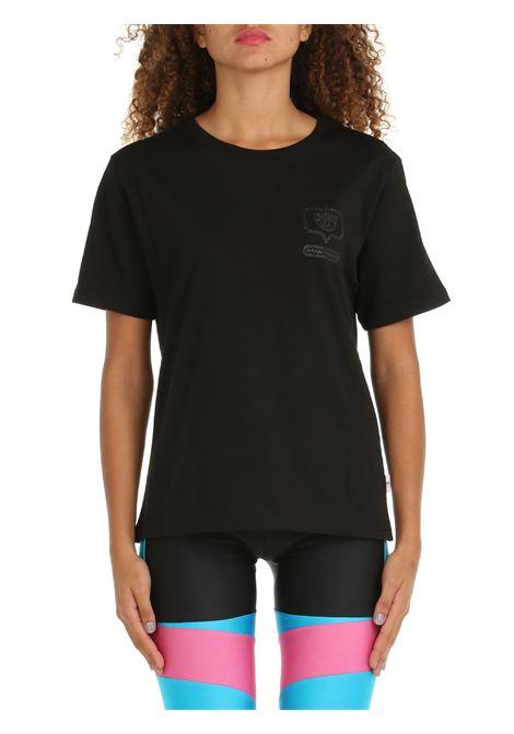 T-SHIRT IN COTONE NERA CHIARA FERRAGNI   T-shirt   71CBHT13CJC0T899