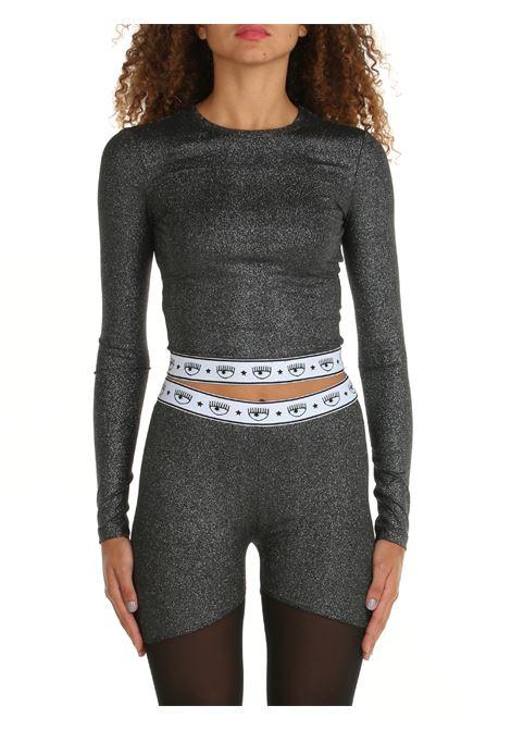 GLITTERED BLACK CROP SWEATER CHIARA FERRAGNI   Shirts   71CBM268J0017899