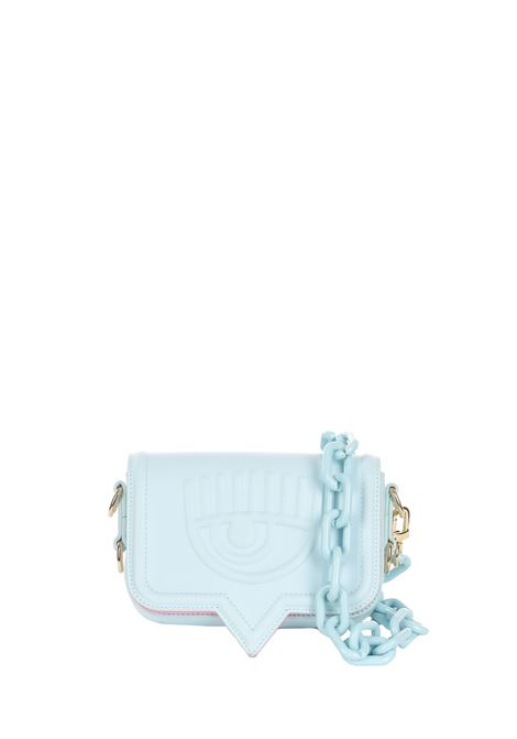 SMALL LIGHT BLUE EYELIKE BAG CHIARA FERRAGNI | Bags | 71SB4BA2ZS132216
