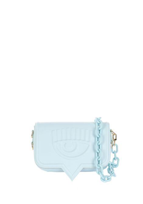 LIGHT BLUE LEATHER BAG EYELIKE MODEL CHIARA FERRAGNI | Bags | 71SB4BA3ZS132216