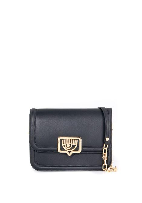 BLACK BAG WITH EYELIKE LOGO CHIARA FERRAGNI   Bags   71SB4BB1ZS132899