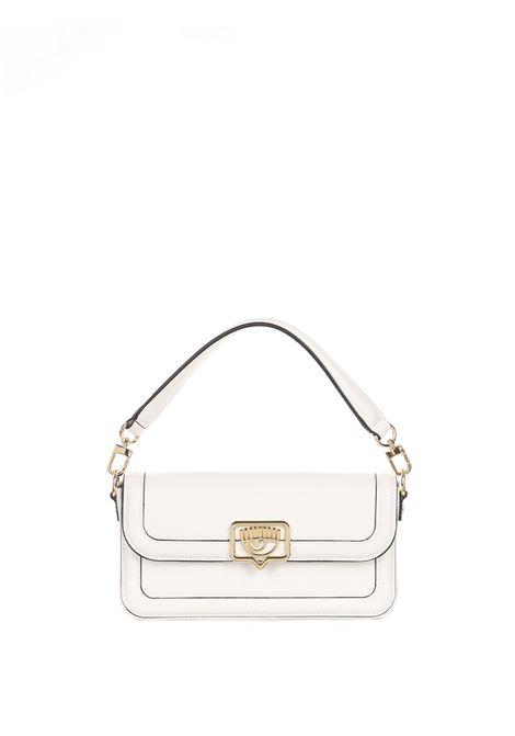 WHITE BAG WITH EYELIKE LOGO CHIARA FERRAGNI | Bags | 71SB4BB4ZS132003