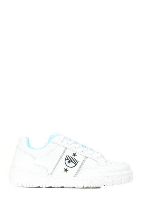 SNEAKERS IN PELLE LOGOMANIA CHIARA FERRAGNI | Sneakers | CF2830009AWHITE