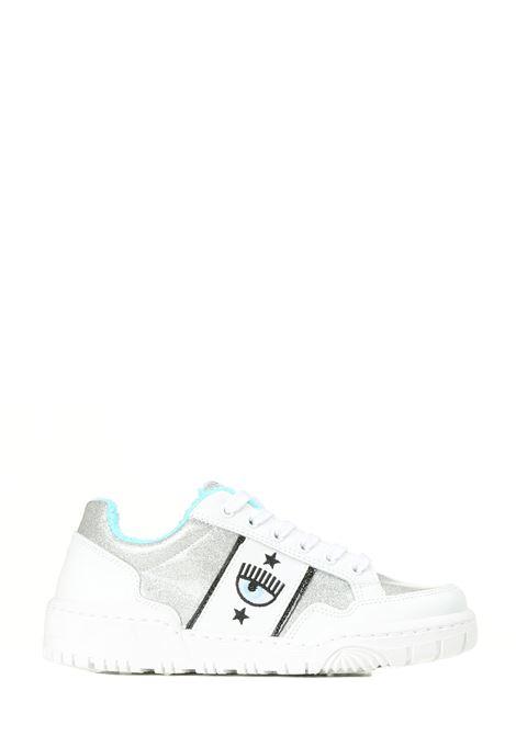SNEAKERS IN PELLE LOGOMANIA CHIARA FERRAGNI | Sneakers | CF2832067ASILVER