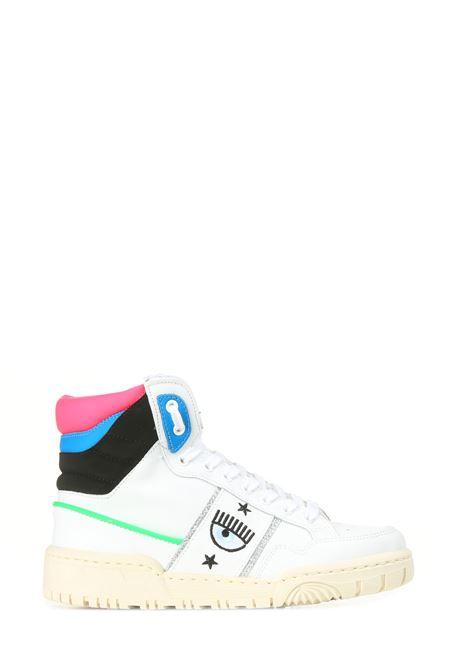 SNEAKERS ALTA  IN PELLE LOGOMANIA CHIARA FERRAGNI | Sneakers | CF2833032AWHITE