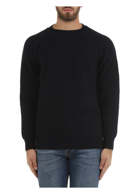BLUE SWEATER IN EXTRA-FINE WOOL AND CASHMERE COSTUMEIN | Shirts | CR50SADDLEKASHAN4734