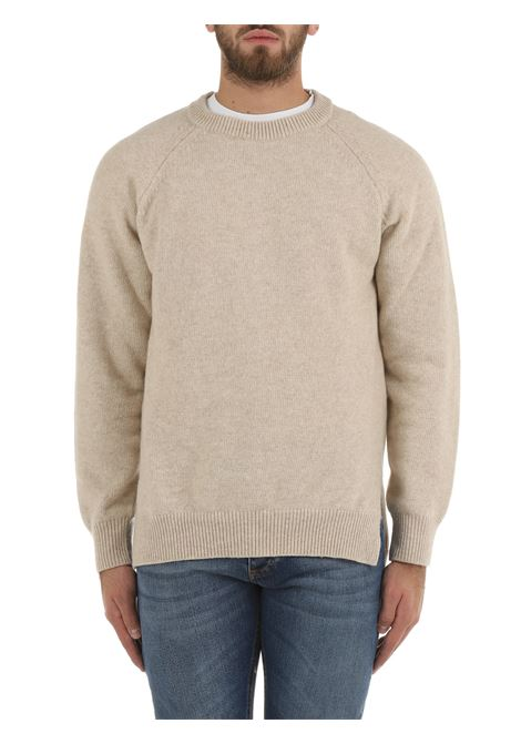 BEIGE SWEATER IN EXTRA-FINE WOOL AND CASHMERE COSTUMEIN | Shirts | CR51RAGLAN64415