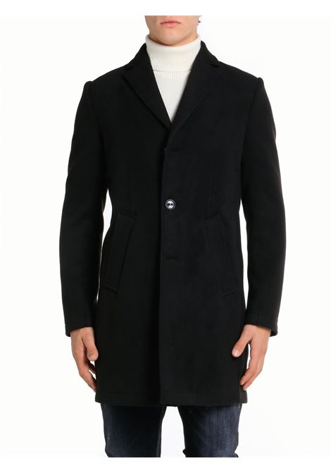 BLACK SERIO SINGLE-BREASTED COAT DANIELE ALESSANDRINI |  | T526M41941061