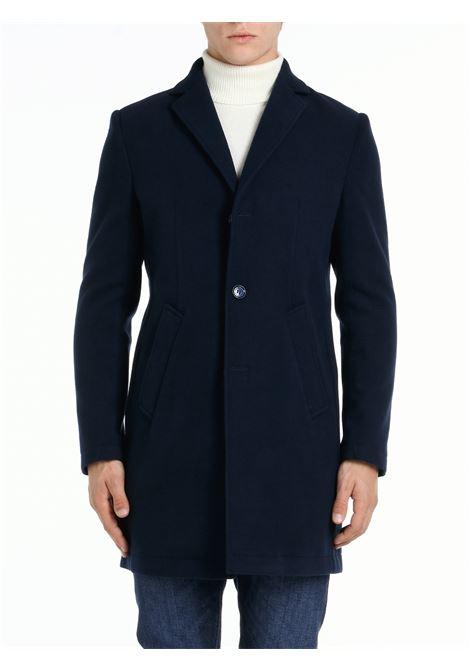 BLUE SERIO SINGLE-BREASTED COAT DANIELE ALESSANDRINI |  | T526M419410623