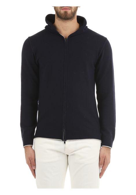 BLUE SWEATSHIRT IN WOOL AND CASHMERE DANIELE FIESOLI | Sweatshirt | DF0035/Z0024