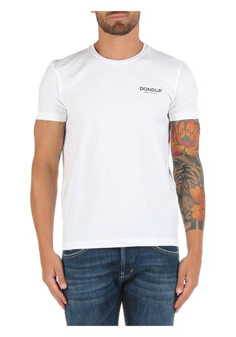 T-SHIRT BIANCA IN COTONE DONDUP | T-shirt | US221JS0125BW7DUW21000