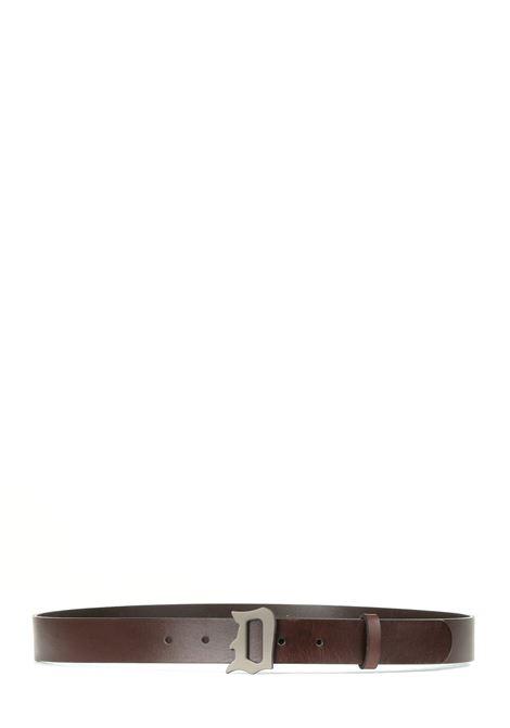 CINTURA MARRONE IN CUOIO CON LOGO D IN METALLO DONDUP | Cinture | XC116PL0250XXXDUW21721