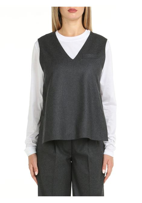 GRAY WOOL TOP DOU DOU | Top | CHAMPAGNE11GRIGIO