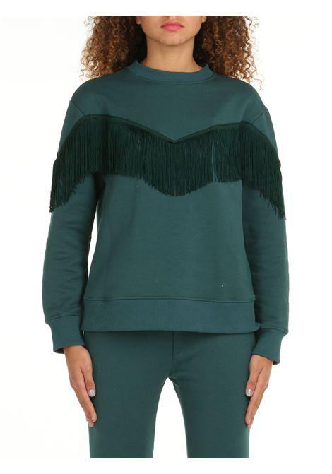 CINDARELLA SWEATSHIRT WITH GREEN FRINGES DOU DOU | Sweatshirt | CINDARELLAVERDE