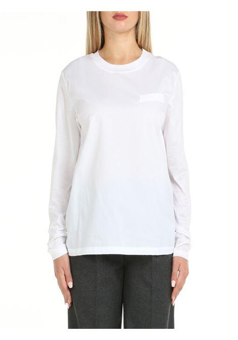 MARGARITA T-SHIRT IN WHITE COTTON DOU DOU | T-shirt | MARGARITABIANCO