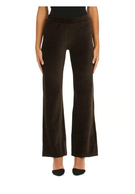 SUIT PANTS IN BROWN CHENILLE DOU DOU | Tracksuit pants | PARADISE05MARRONE