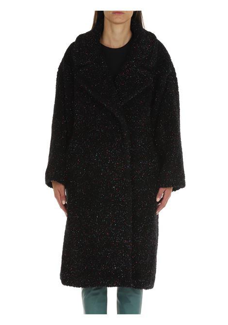 BLACK OVERSIZE CASENTINO COAT FRONT STREET 8   Coats   FW23NERO