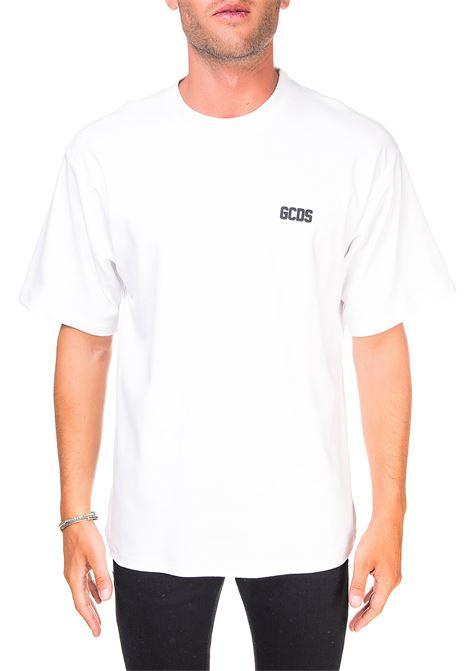 WHITE COTTON T-SHIRT WITH FRONT LOGO APPLICATION GCDS |  | CC94M02100101