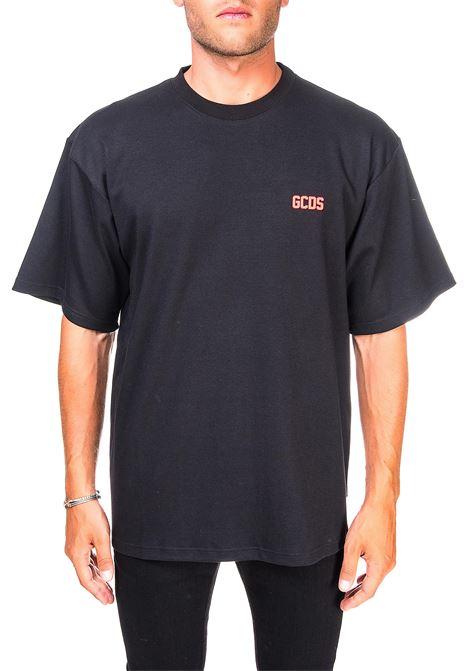 BLACK COTTON T-SHIRT WITH LOGO GCDS |  | CC94M02100102