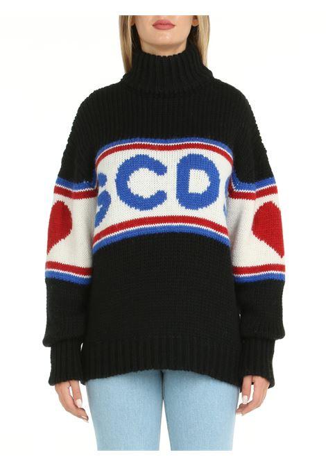 OVERSIZE SWEATER WITH CUTE TAPE LOGO INLAY GCDS | Shirts | CC94W02041402