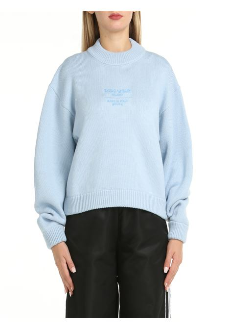 OVERSIZE SWEATER WITH LOGO EMBROIDERY GCDS | Shirts | CC94W02041763