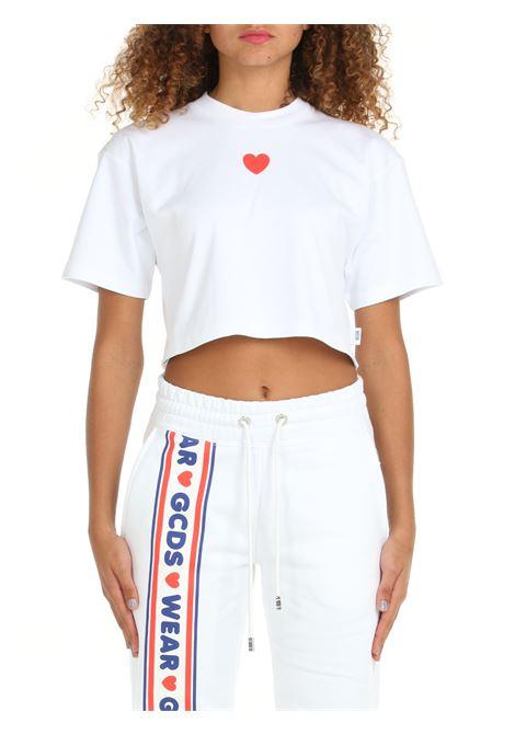 CROP T-SHIRT WITH CUTE TAPE LOGO PRINT GCDS | T-shirt | CC94W02070401