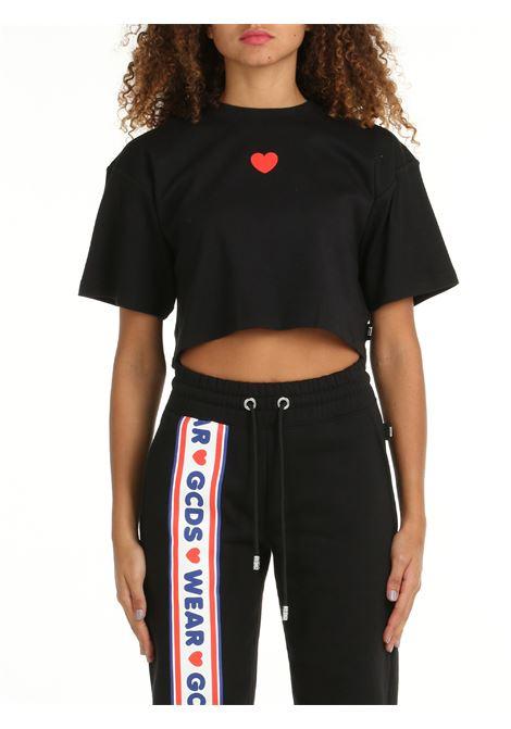 CROP T-SHIRT WITH CUTE TAPE LOGO PRINT GCDS | T-shirt | CC94W02070402