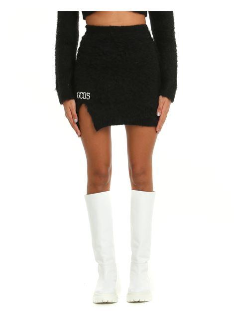 BLACK MOHAIR MINI SKIRT GCDS | Skirts | CC94W03111102