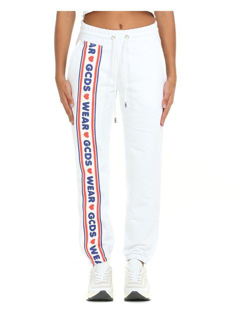 SWEATPANTS IN WHITE COTTON GCDS | Tracksuit pants | CC94W03145601