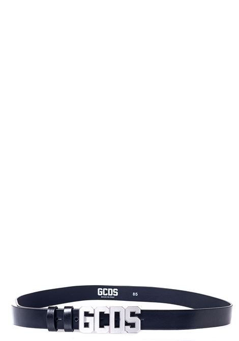 CINTURA NERA CON APPLICAZIONE LOGO GCDS | Cinture | FW22M01000302