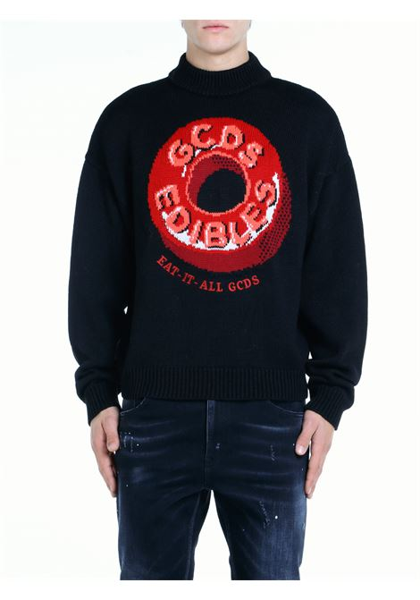 SWEATER WITH EDIBLES LOGO INLAY GCDS |  | FW22M02001502