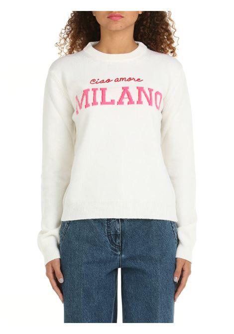 WHITE EXTRA-FINE WOOL SWEATER GIADA BENINCASA | Shirts | W1531MCMC1