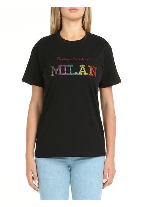 BLACK COTTON T-SHIRT GIADA BENINCASA | T-shirt | W1762TT2