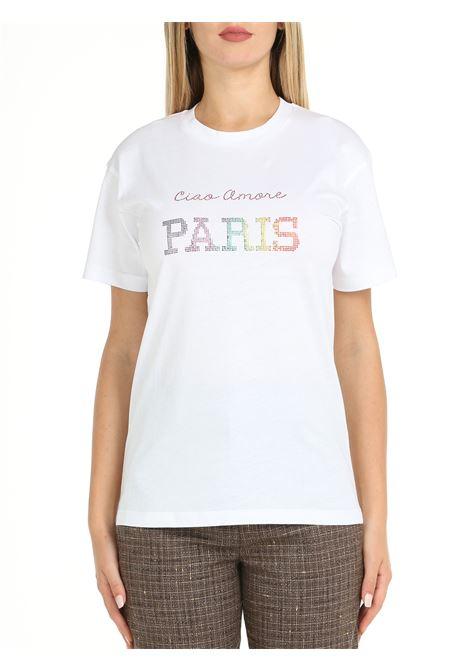 T-SHIRT IN COTONE BIANCA GIADA BENINCASA   T-shirt   W1766TT1
