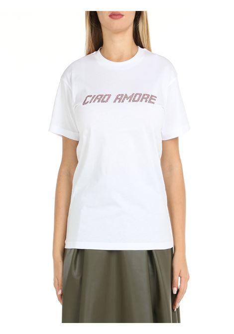 T-SHIRT IN WHITE COTTON GIADA BENINCASA | T-shirt | W1781TT1
