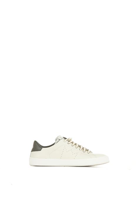 LOW WHITE LEATHER SNEAKERS LEATHER CROWN | Sneakers | MLC0620161BIANCO