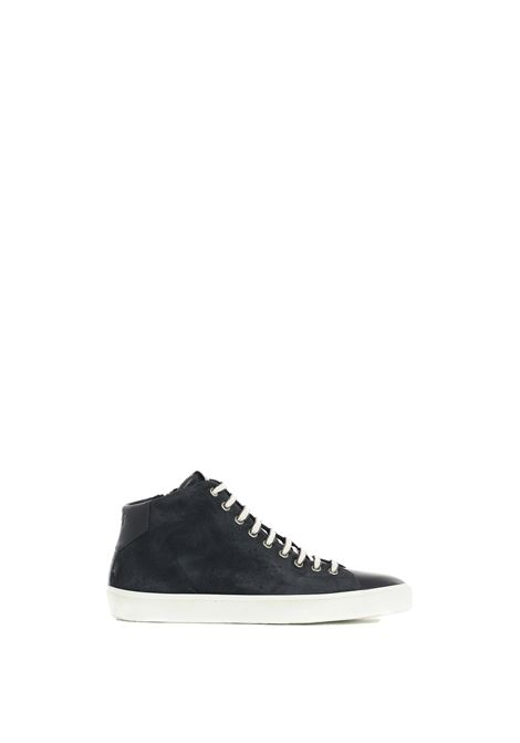 MEDIUM BLUE SNEAKERS IN LEATHER AND LEATHER LEATHER CROWN | Sneakers | MLC13320164BLU