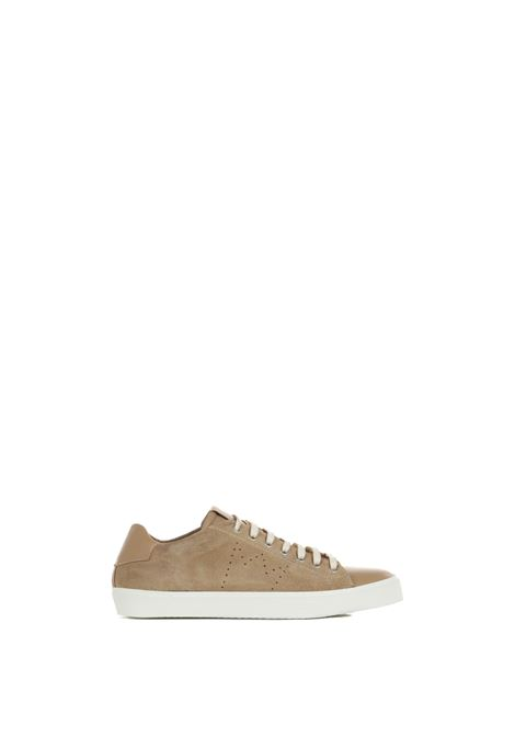 LOW CAMEL SNEAKERS IN LEATHER AND LEATHER LEATHER CROWN | Sneakers | MLC13620116CAMMELLO