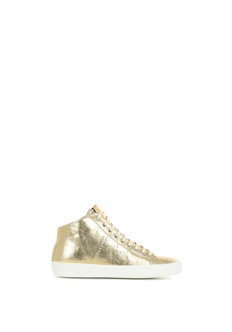 MEDIUM SNEAKERS IN GLOSSY GOLD LEATHER LEATHER CROWN | Sneakers | WLC13320121ORO