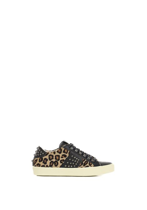 LOW SPOTTED LEATHER SNEAKERS LEATHER CROWN | Sneakers | WLC14820148MACULATO