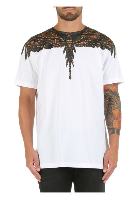 COTTON T-SHIRT WITH WINGS PRINT MARCELO BURLON |  | CMAA018F21JER0020156